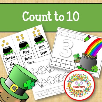 Count 1 to 10 - How Many Gold Coins Counting Activity Package