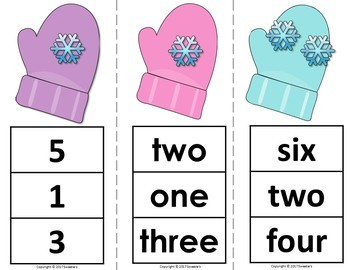 Count 1 to 10 - How Many Snowflakes Counting Activity