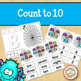 Count 1 to 10 - How Many Spiders Counting Activity Package