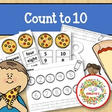 Count 1 to 10 - How Many Pizza Toppings Counting Activity