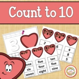 Count 1 to 10 - How Many Valentine Chocolate Pieces Counti