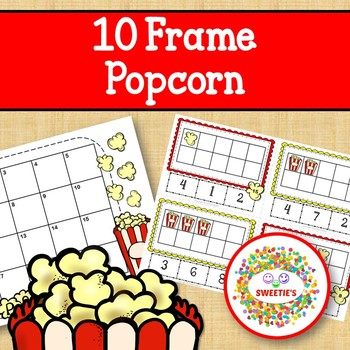 Count 1 to 10 Task Cards Popcorn