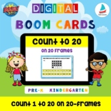 Count 1 to 20 Dots on 20 Frames Pre-k Kindergarten K1 Math