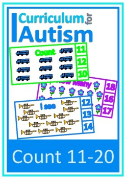 Count 11-20 Visual Flash Cards, Autism, Special Education,