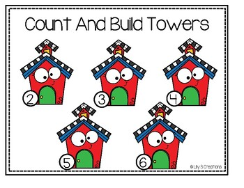 Count And Build Towers - School Theme