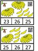 Count And Clip 1-10 Bananas (QR Code Ready) -Dollar Deal