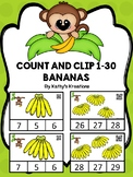 Count And Clip 1-30 Bananas (QR Code Ready)
