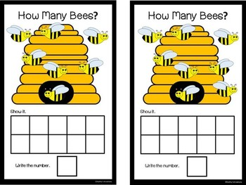 Count And Clip 1-10 Bees & Counting Mats