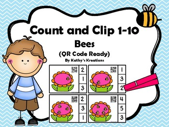 Count And Clip 1-10 Bees -Dollar Deal