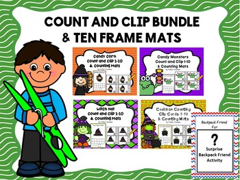 Count And Clip 1-10 & Counting Mats Bundle 2