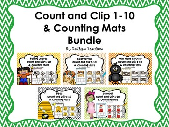 Count And Clip 1-10 & Counting Mats Bundle 1
