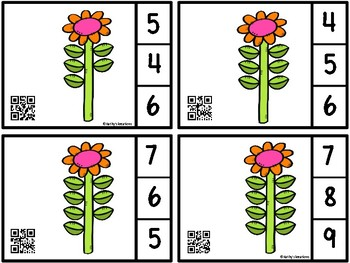 Count And Clip 1-10 Flower Leafs (QR Code Ready) -Dollar Deal
