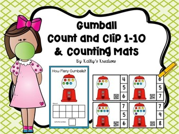 Count And Clip 1-10 Gumballs & Counting Mats