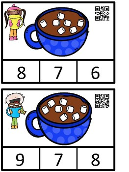 Count And Clip 1-10 Hot Chocolate (QR Code Ready) -Dollar Deal