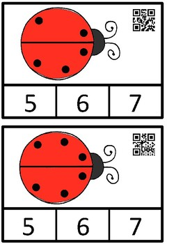 Count And Clip 1-10 Ladybugs (QR Code Ready) -Dollar Deal