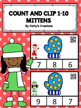 Count And Clip 1-10 Mittens (QR Code Ready) -Dollar Deal