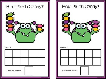Count And Clip 1-10 Monster Candy & Counting Mats