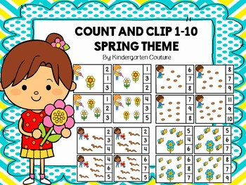 Count And Clip 1-10 Spring