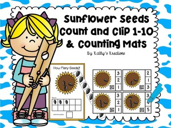 Count And Clip 1-10 Sunflower Seeds & Counting Mats