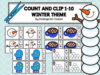 Count And Clip 1-10 Winter Set