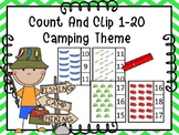 Count And Clip 1-20 Camping