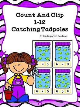 Count And Clip 1-20 Catching Tadpoles
