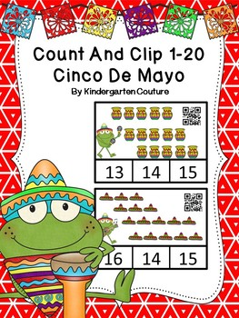 Count And Clip 1-20 Cinco De Mayo