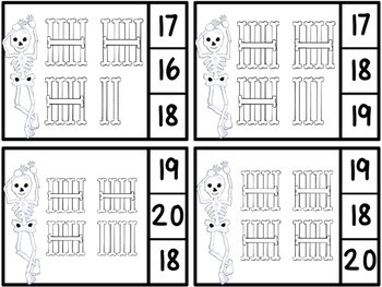 Count And Clip 1-20 Dem Bones Tally Marks