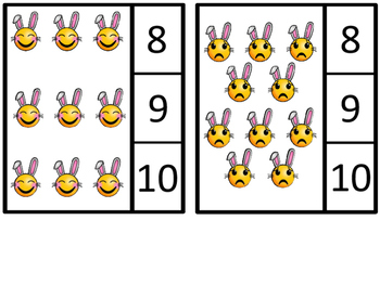 Count And Clip 1-20 Emoji Bunnies