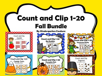 Count And Clip 1-20 Fall Bundle