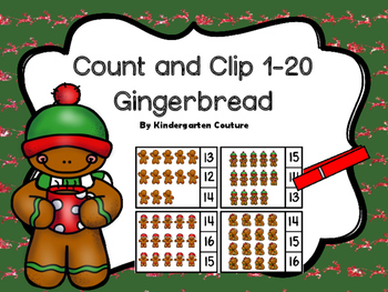 Count And Clip 1-20 Gingerbread