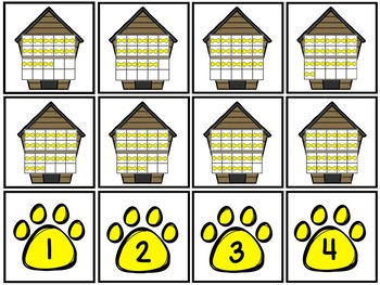 Count And Clip 1-20 Give A Dog A Bone & Memory Cards