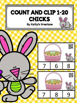Count And Clip 1-20 Little Chicks (QR Code Ready)