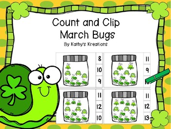 Count And Clip 1-20 March Bugs