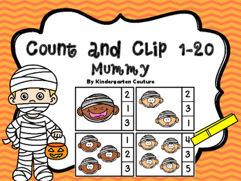 Count And Clip 1-20 Mummies