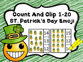 Count And Clip 1-20 St. Patrick's Day