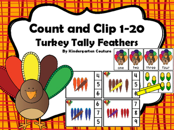 Count And Clip 1-20 Turkey Tally And Memory Cards