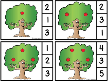 Count And Clip Apple Tree