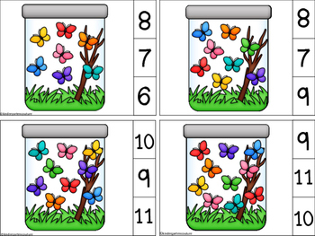 Count And Clip Butterflies 1-10