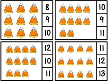 Count And Clip -Candy Corn 1-20