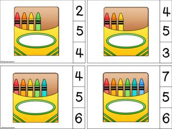 Count And Clip Crayon Box 1-12