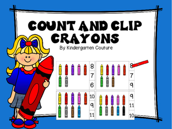 Count And Clip Crayons