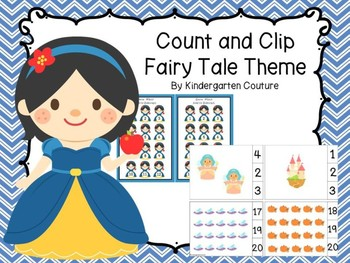 Count And Clip Fairy Tale Theme