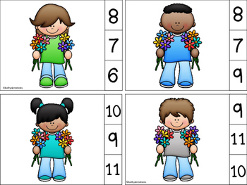 Count And Clip Flowers 1-10
