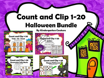 Count And Clip Halloween Bundle