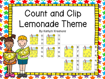 Count And Clip Lemonade Theme