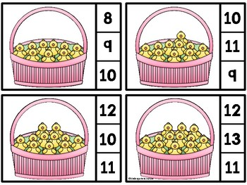 Count And Clip -Little Chicks 1-20