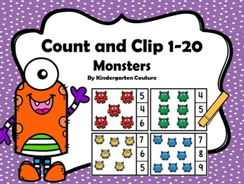 Count And Clip -Monsters