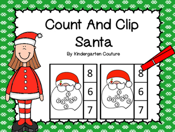 Count And Clip Santa