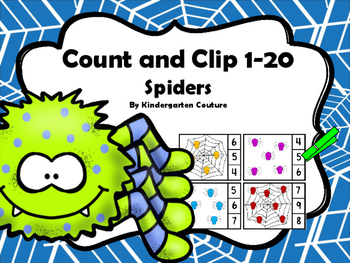 Count And Clip - Spiders